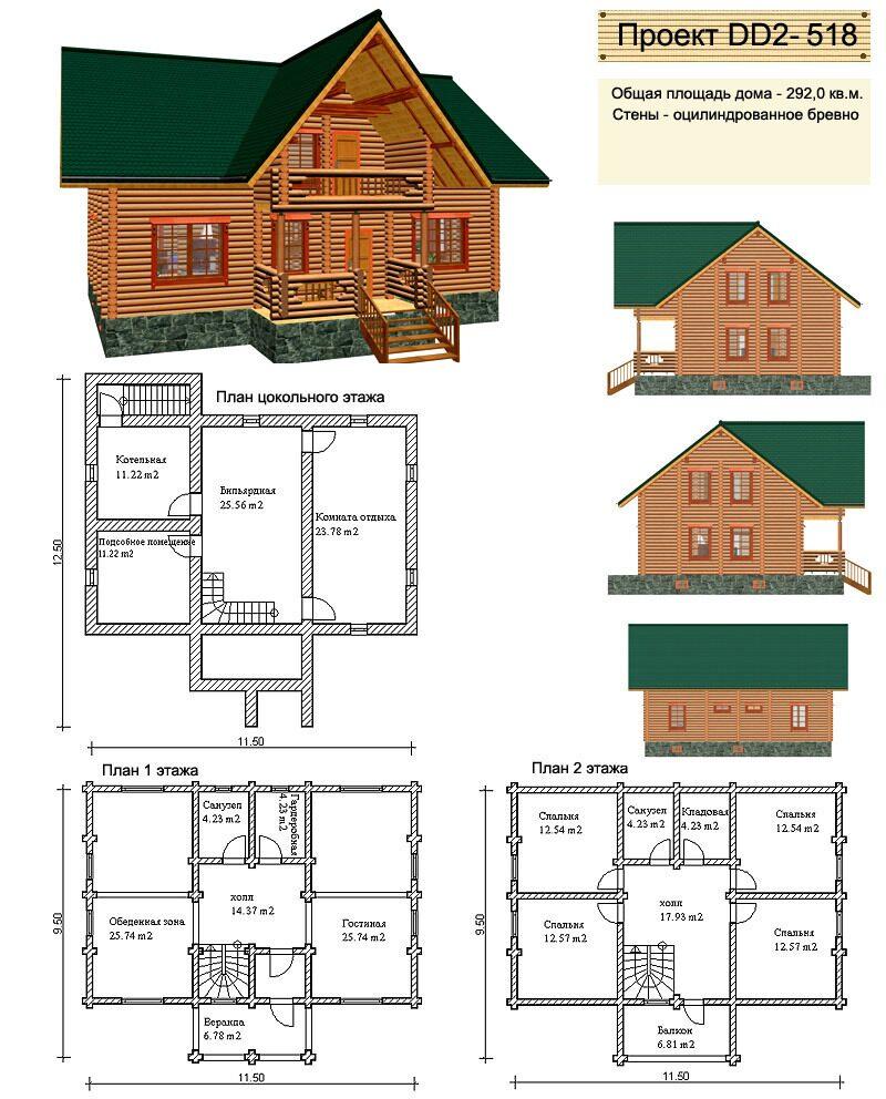 бесплатные проекты домов из бревна марки используют